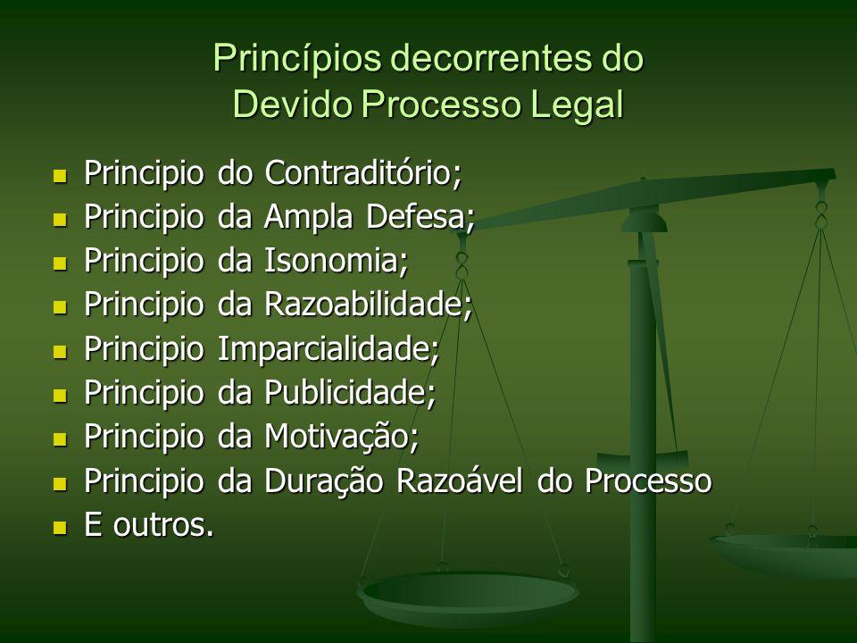 Princípios decorrentes do Devido Processo Legal