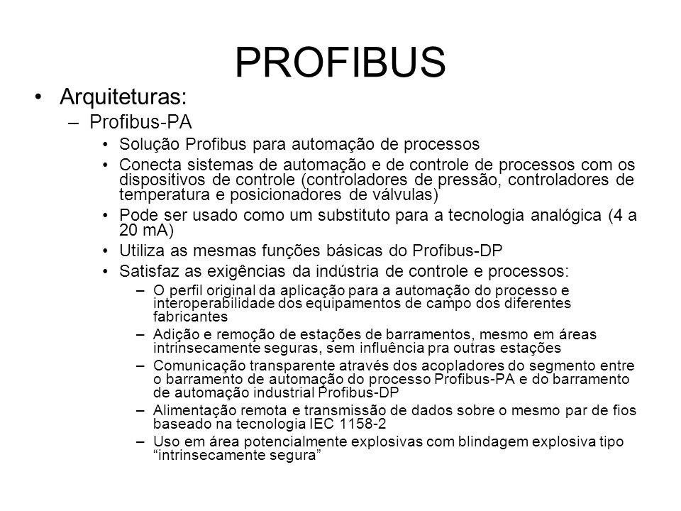 PROFIBUS Arquiteturas: Profibus-PA