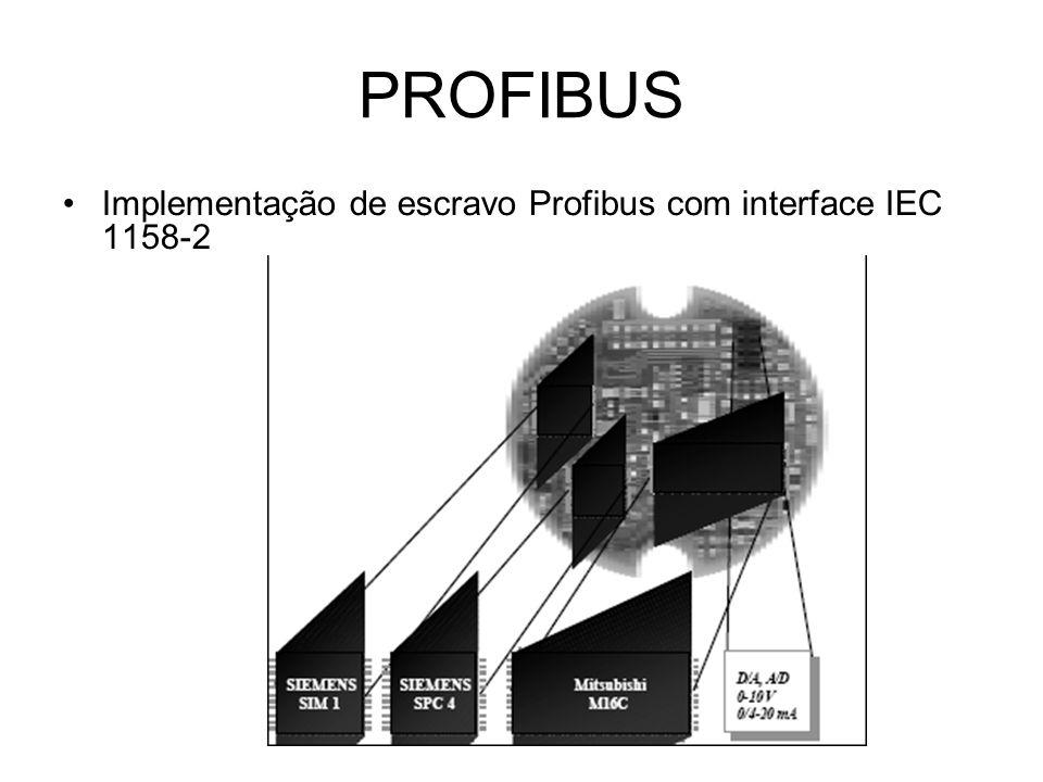 PROFIBUS Implementação de escravo Profibus com interface IEC 1158-2