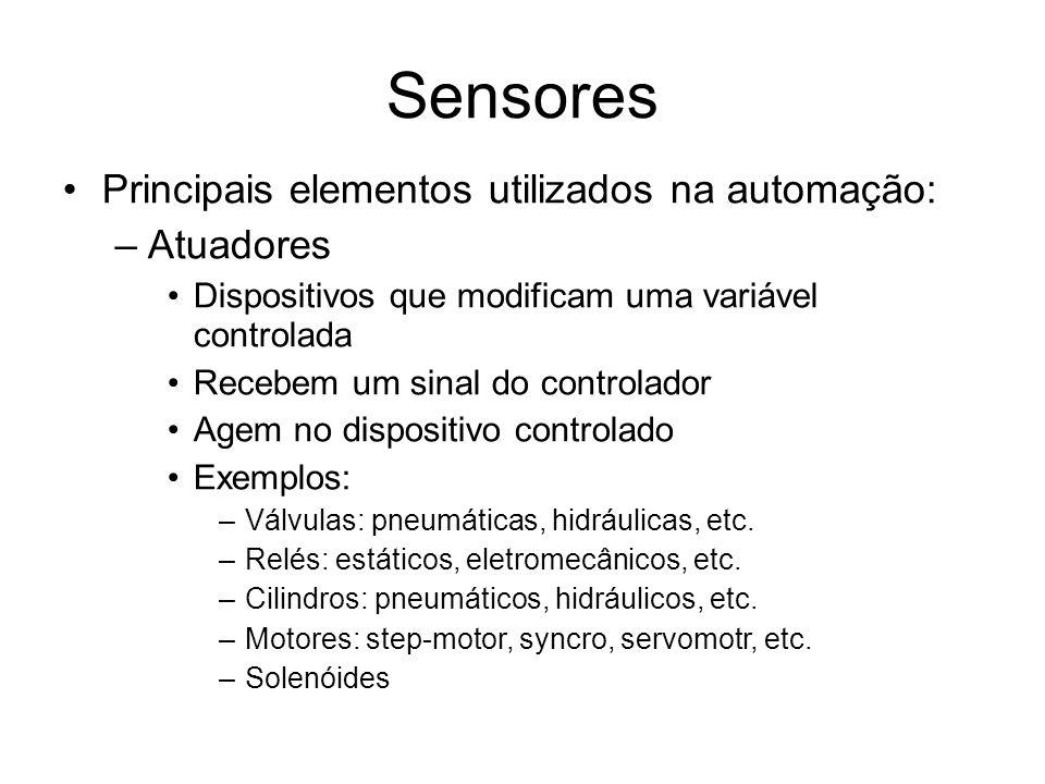 Sensores Principais elementos utilizados na automação: Atuadores
