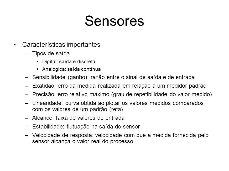 Sensores Características importantes Tipos de saída