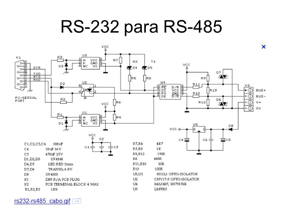 RS-232 para RS-485