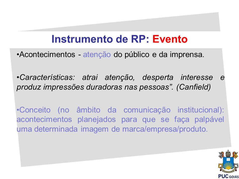 Instrumento de RP: Evento