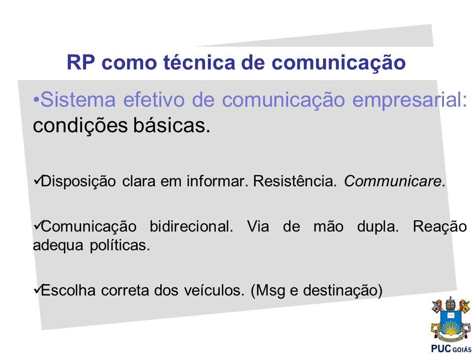 RP como técnica de comunicação