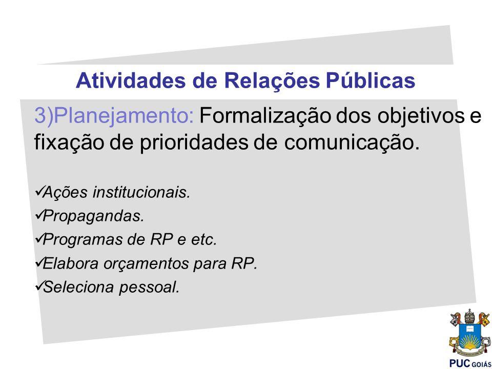 Atividades de Relações Públicas