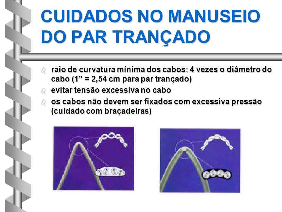 CUIDADOS NO MANUSEIO DO PAR TRANÇADO