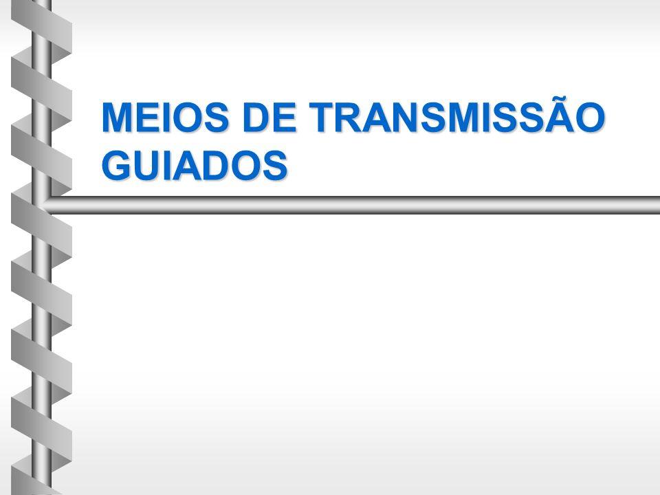 MEIOS DE TRANSMISSÃO GUIADOS
