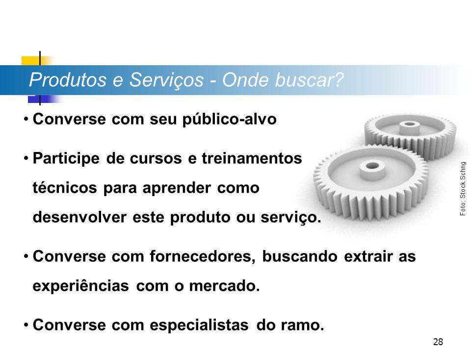 Produtos e Serviços - Onde buscar