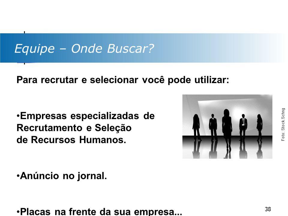 Equipe – Onde Buscar Para recrutar e selecionar você pode utilizar: