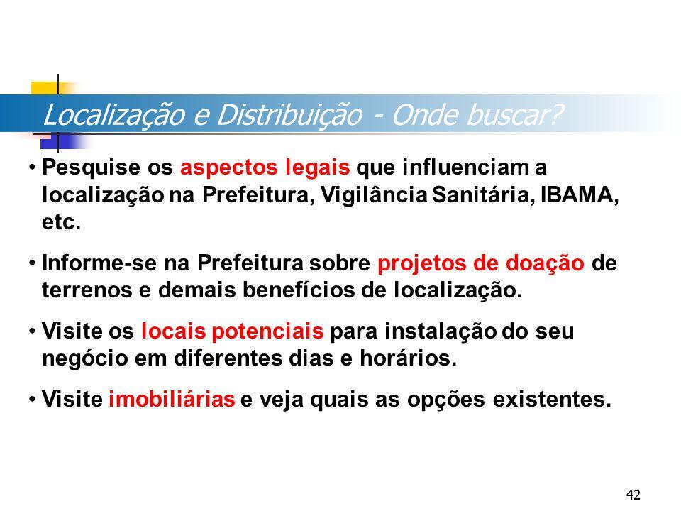 Localização e Distribuição - Onde buscar