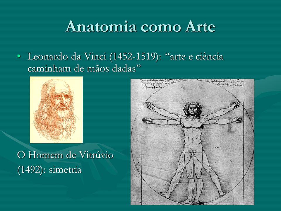 Anatomia como Arte Leonardo da Vinci (1452-1519): arte e ciência caminham de mãos dadas O Homem de Vitrúvio.