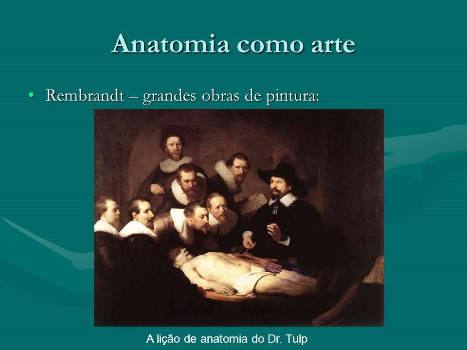 Anatomia como arte Rembrandt – grandes obras de pintura: