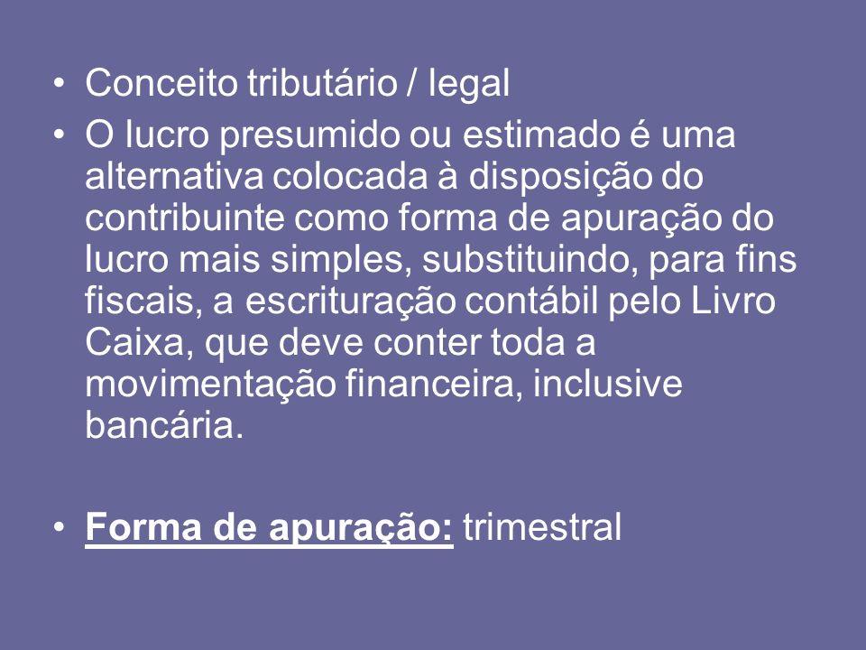 Conceito tributário / legal
