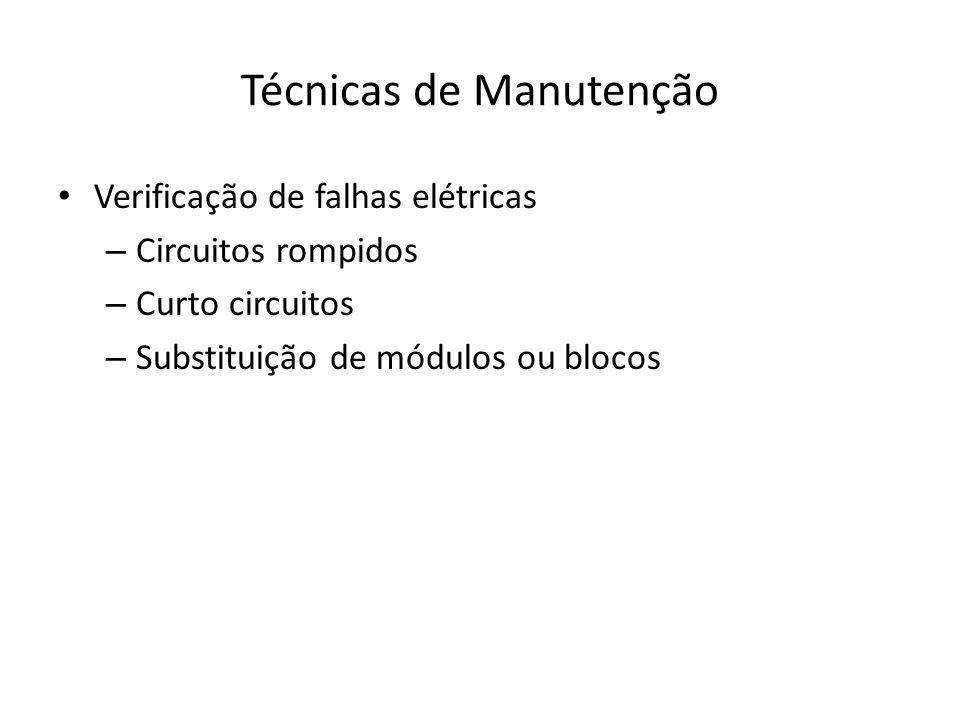 Técnicas de Manutenção