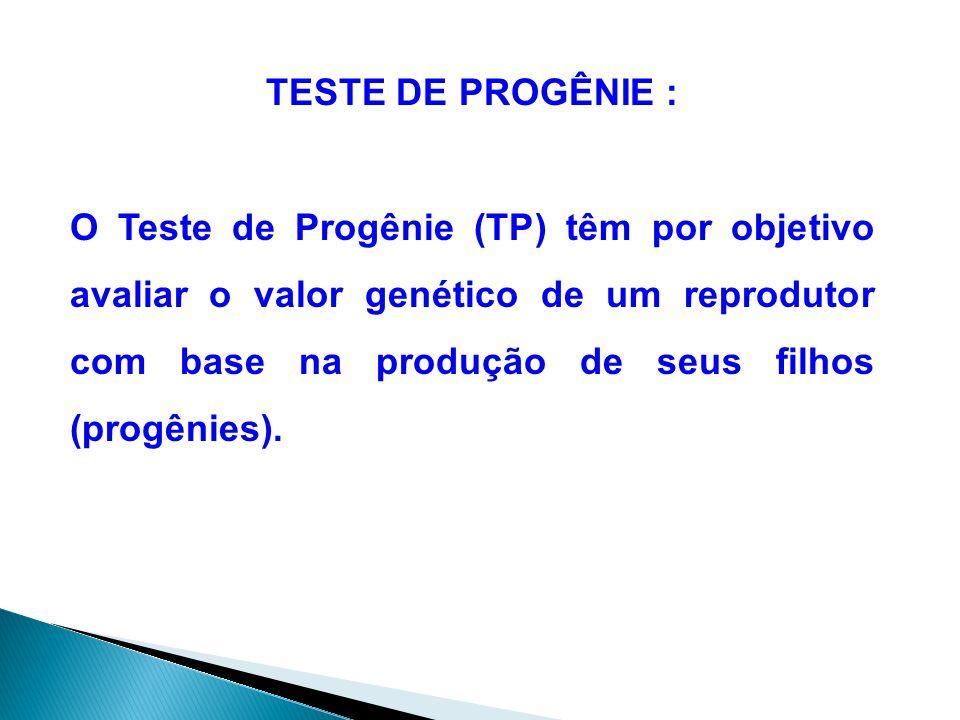 TESTE DE PROGÊNIE :