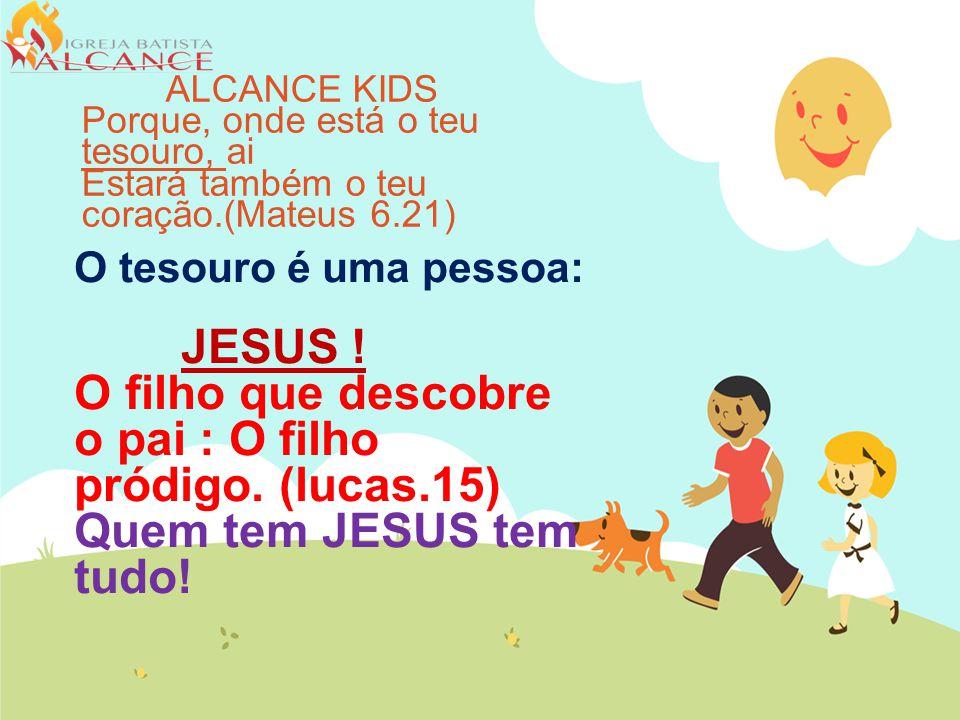 ALCANCE KIDS Porque, onde está o teu tesouro, ai. Estará também o teu coração.(Mateus 6.21)
