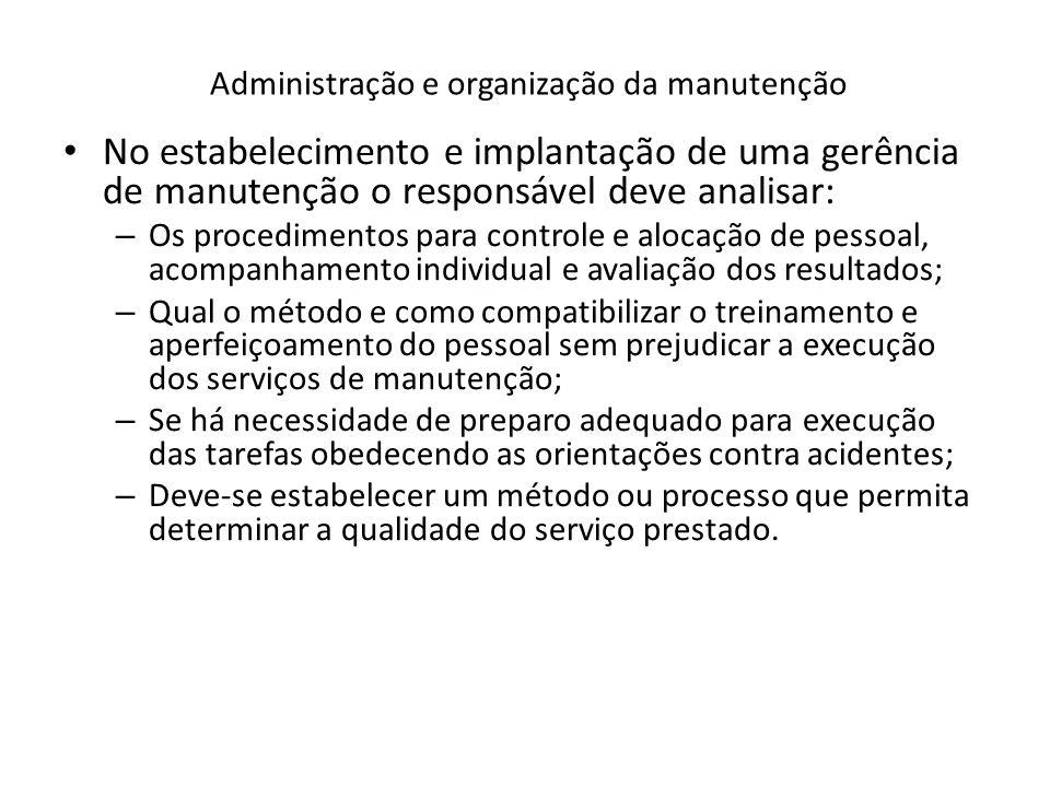 Administração e organização da manutenção