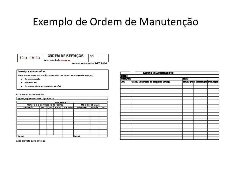 Exemplo de Ordem de Manutenção