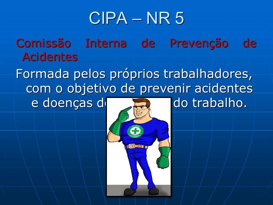 CIPA – NR 5Comissão Interna de Prevenção de Acidentes.