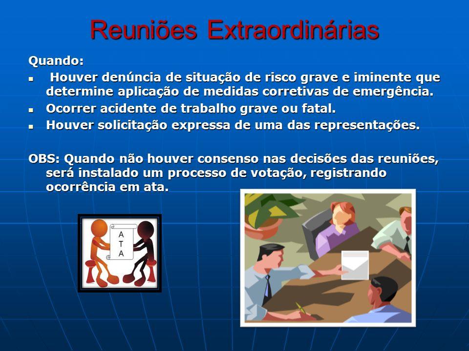 Reuniões Extraordinárias