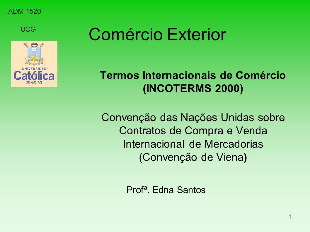 Termos Internacionais de Comércio (INCOTERMS 2000)