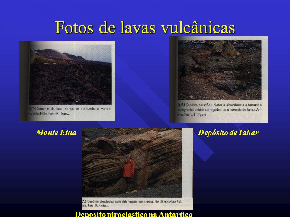 Fotos de lavas vulcânicas