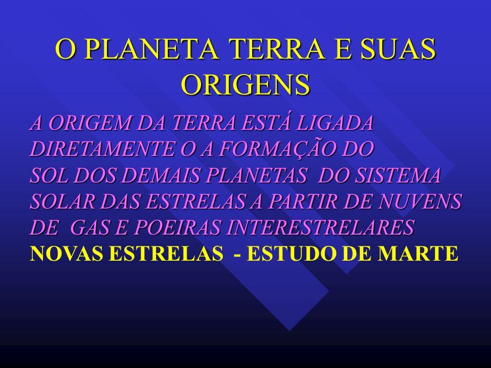 O PLANETA TERRA E SUAS ORIGENS