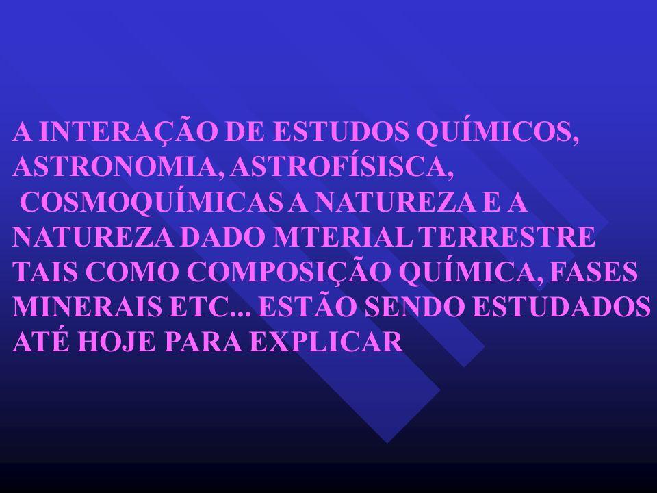 A INTERAÇÃO DE ESTUDOS QUÍMICOS,