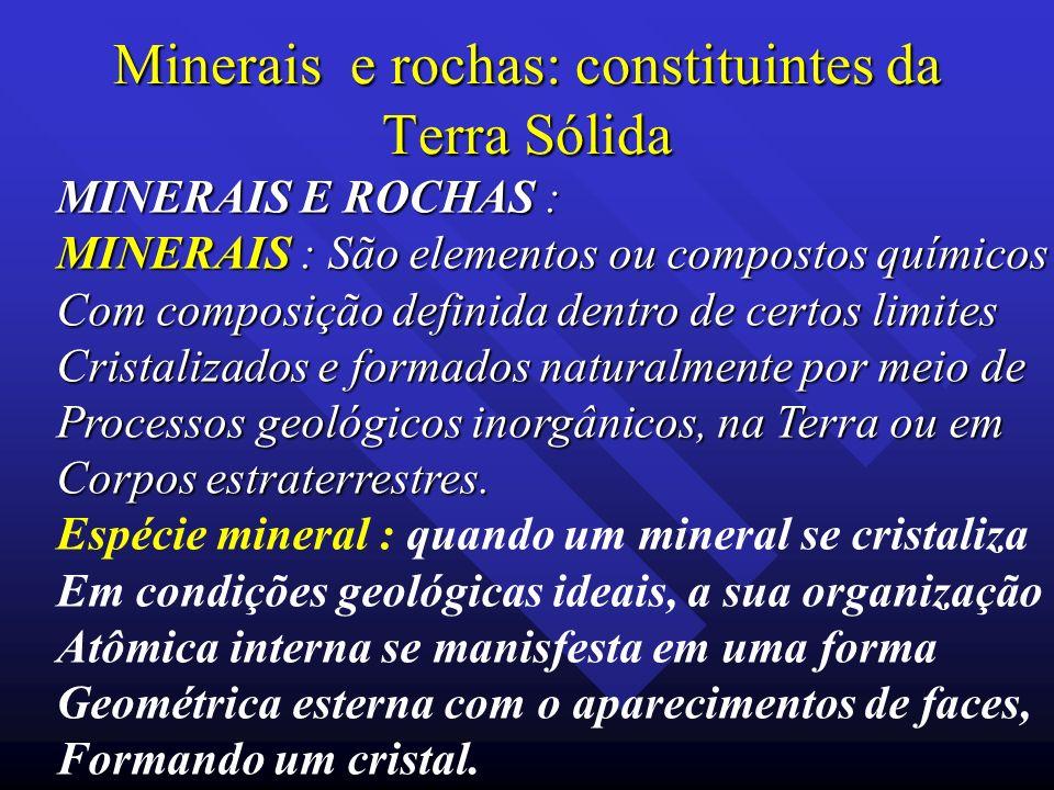 Minerais e rochas: constituintes da Terra Sólida