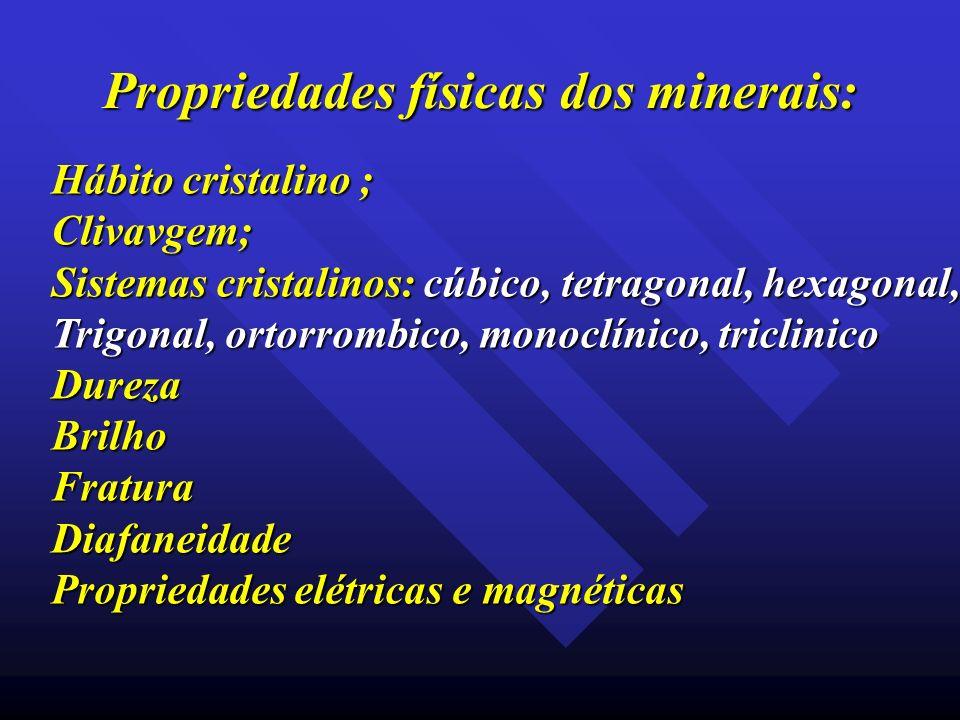 Propriedades físicas dos minerais: