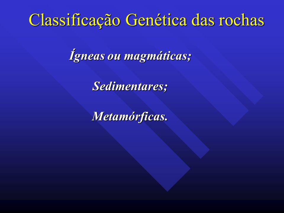 Classificação Genética das rochas