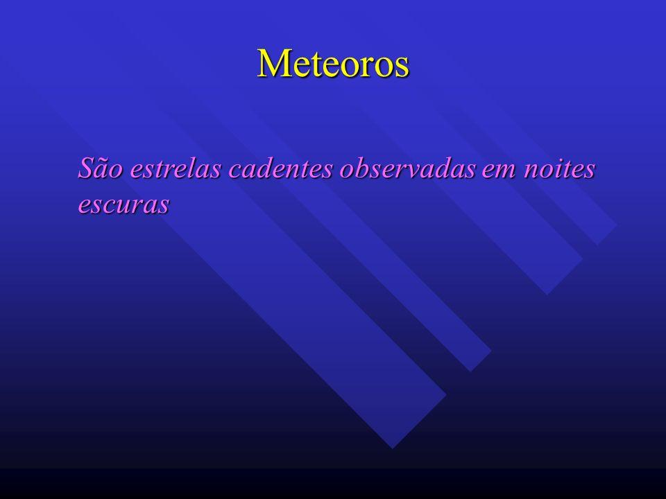 Meteoros São estrelas cadentes observadas em noites escuras