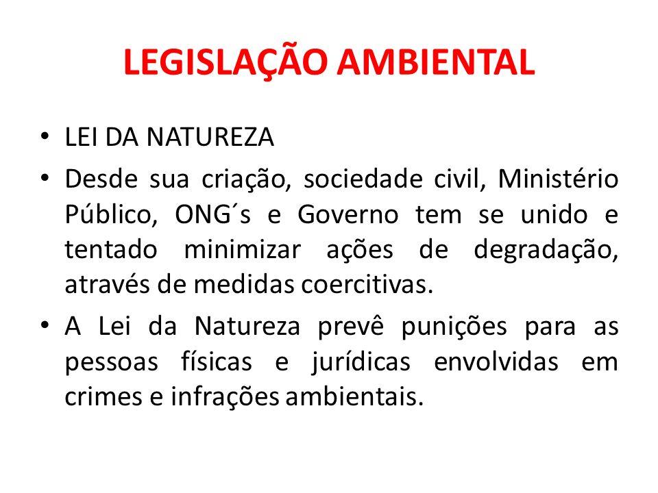 LEGISLAÇÃO AMBIENTAL LEI DA NATUREZA
