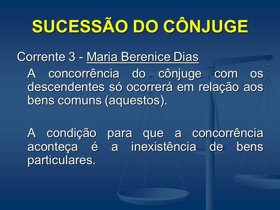 SUCESSÃO DO CÔNJUGE Corrente 3 - Maria Berenice Dias