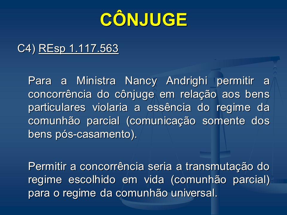 CÔNJUGE C4) REsp 1.117.563.