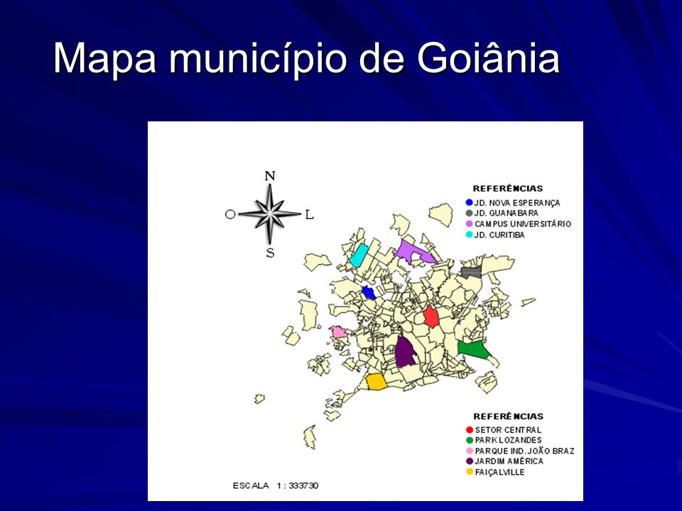 Mapa município de Goiânia