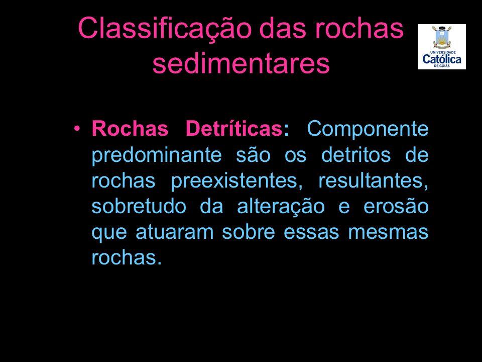 Classificação das rochas sedimentares
