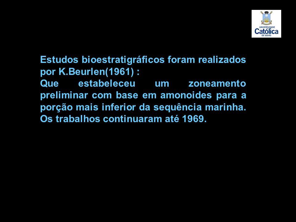 Estudos bioestratigráficos foram realizados por K.Beurlen(1961) :