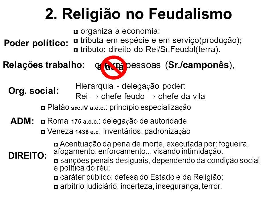 2. Religião no Feudalismo