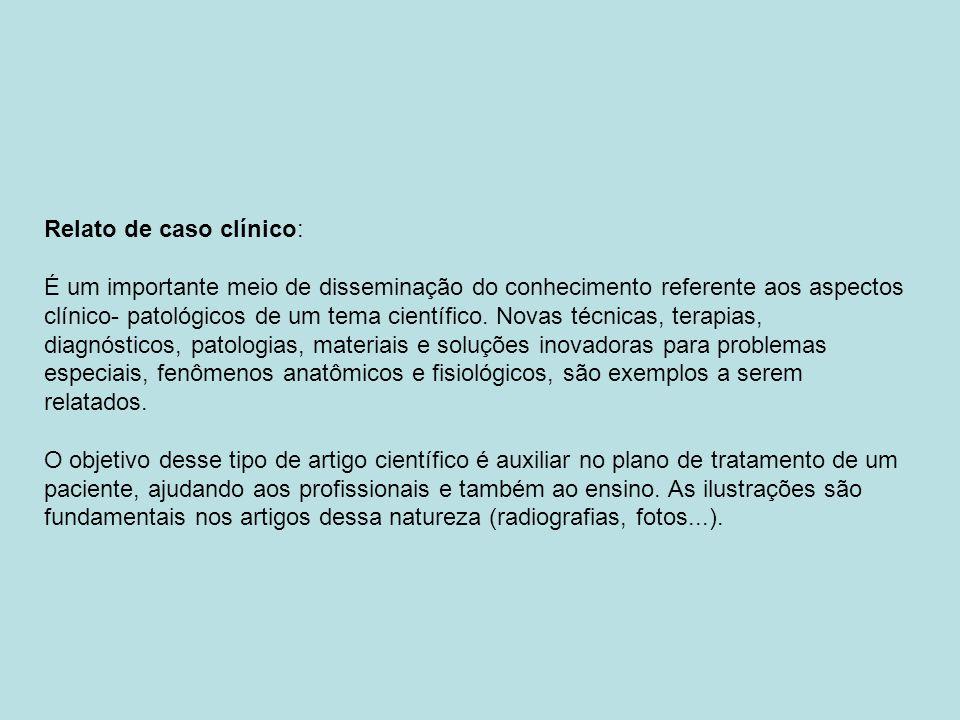 Relato de caso clínico: