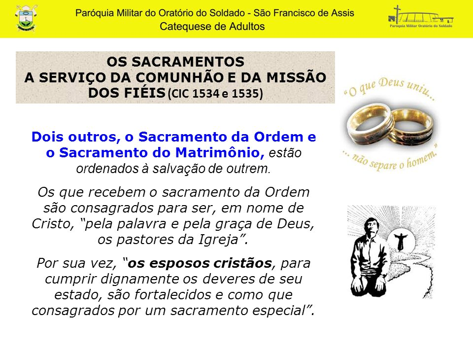 Sacramento Do Matrimonio Na Bíblia : Estudo dos sacramentos ppt carregar