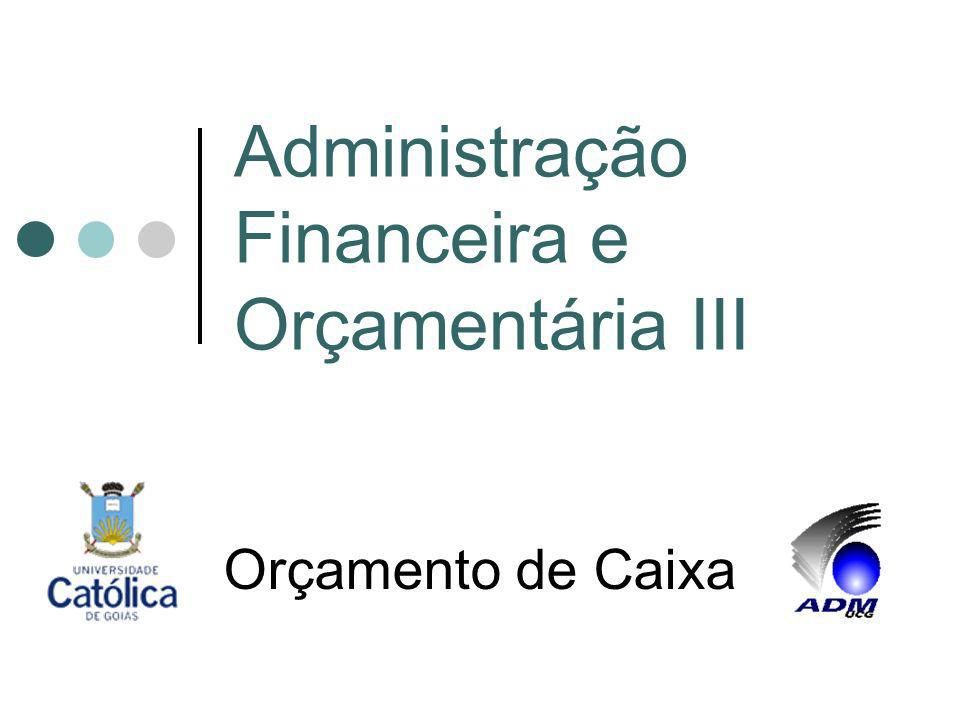 Administração Financeira e Orçamentária III