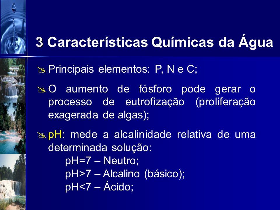 3 Características Químicas da Água
