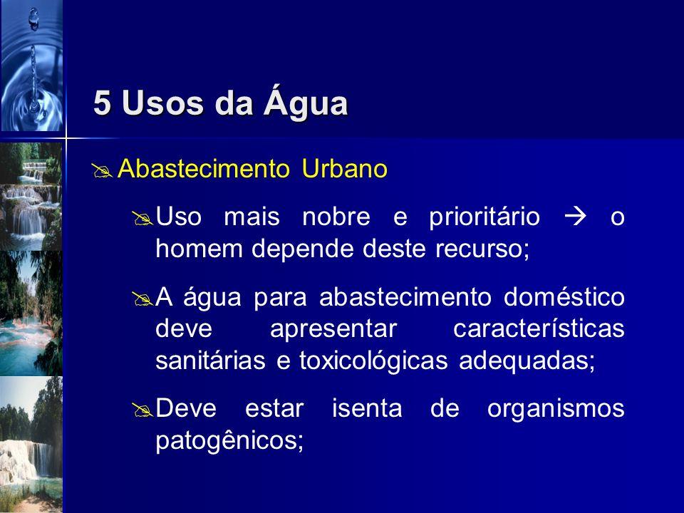 5 Usos da Água Abastecimento Urbano