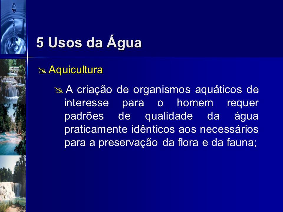 5 Usos da Água Aquicultura