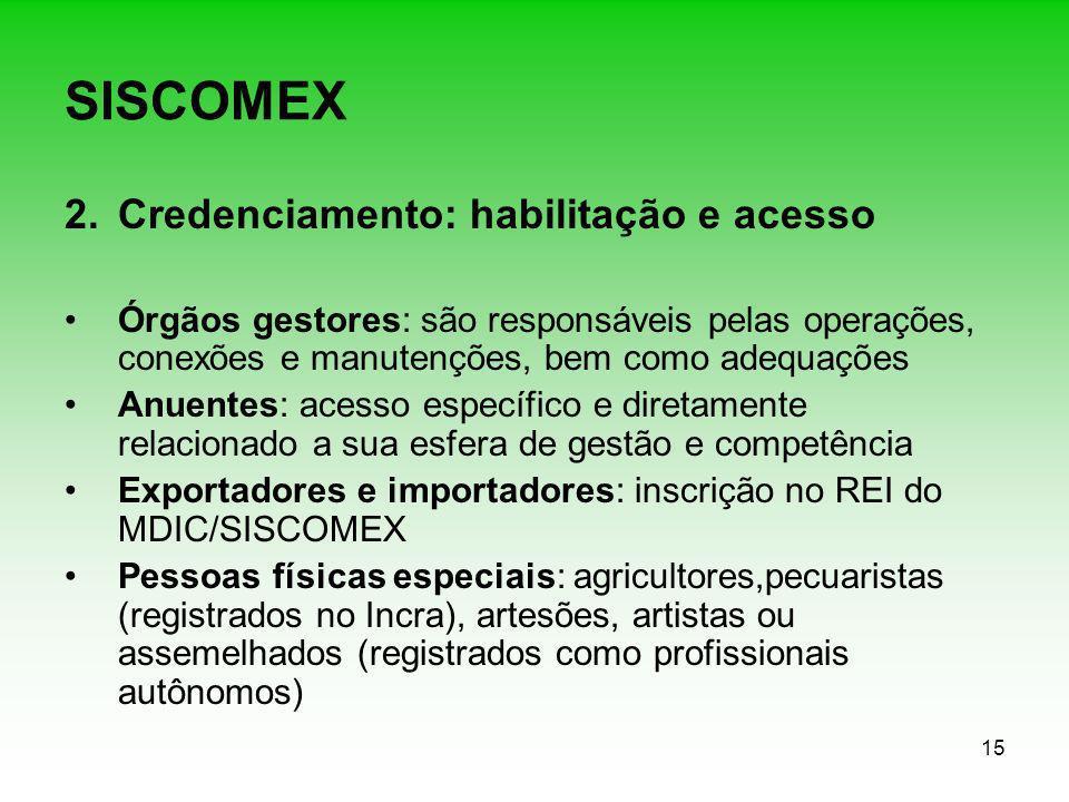 SISCOMEX Credenciamento: habilitação e acesso
