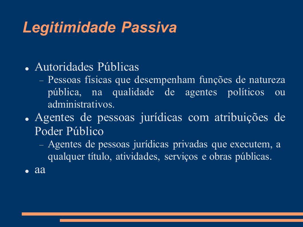 Legitimidade Passiva Autoridades Públicas