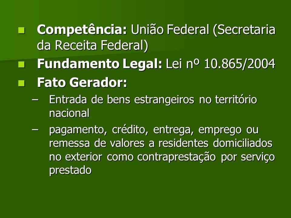 Competência: União Federal (Secretaria da Receita Federal)