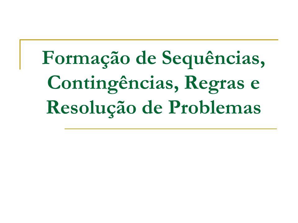 Formação de Sequências, Contingências, Regras e Resolução de Problemas