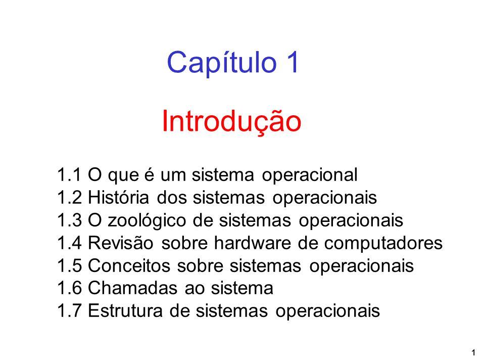 Capítulo 1 Introdução 1.1 O que é um sistema operacional
